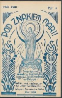Pod Znakiem Marji. R. 18, nr 8 = 161 (1938)