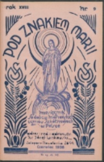 Pod Znakiem Marji. R. 18, nr 9 = 162 (1938)