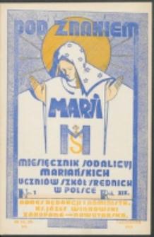 Pod Znakiem Marji. R. 19, nr 1 = 163 (1938)