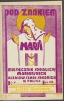 Pod Znakiem Marji. R. 19, nr 4 = 166 (1939)