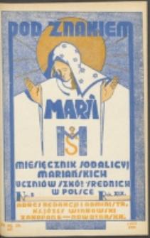 Pod Znakiem Marji. R. 19, nr 5 = 167 (1939)