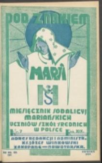Pod Znakiem Marji. R. 19, nr 7 = 169 (1939)