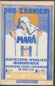 Pod Znakiem Marji. R. 19, nr 8 = 170 (1939)