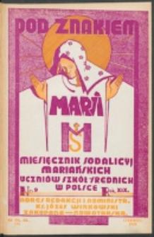 Pod Znakiem Marji. R. 19, nr 9 = 171 (1939)