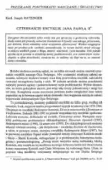 Czternaście encyklik Jana Pawła II.