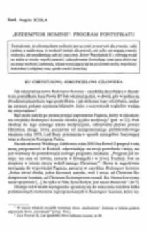 Redemptor hominis: program pontyfikatu.