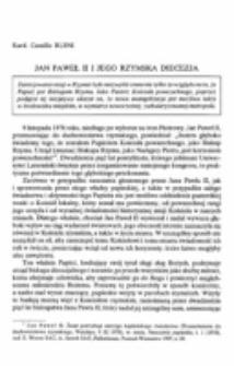 Jan Paweł II i jego rzymska diecezja.