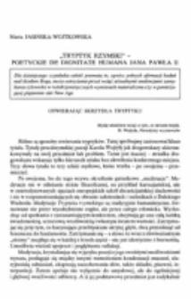 Tryptyk rzymski - poetyckie de dignitate humana Jana Pawła II.