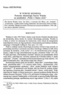 """W nurcie istnienia. Poetycka chrystologia Karola Wojtyły na przykładzie """"Pieśni o blasku wody""""."""