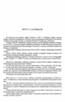 Noty o autorach. s. [611]-627.