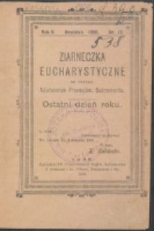Ziarneczka Eucharystyczne. R. 2, nr 12 (1908)