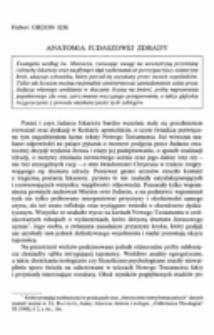 Anatomia Judaszowej zdrady.