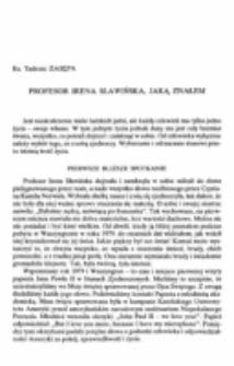 Profesor Irena Sławińska, jaką znałem.