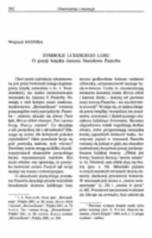 Symbole ludzkiego losu. O poezji ks. Janusza Stanisława Pasierba.