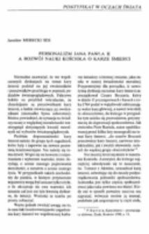 Personalizm Jana Pawła II a rozwój nauki Kościoła o karze śmierci.
