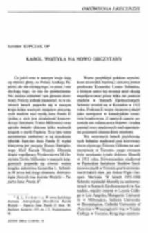 Karol Wojtyła na nowo odczytany.
