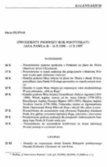 Dwudziesty pierwszy rok pontyfikatu Jana Pawła II - 16.X.1998-15.X.1999.