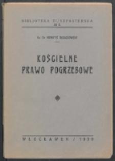 Kościelne prawo pogrzebowe / Henryk Insadowski.