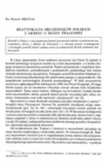 Beatyfikacja męczenników polskich z okresu II wojny światowej.