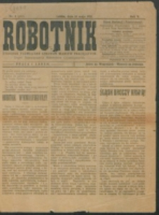 Robotnik. R. 5, nr 8 (1921)