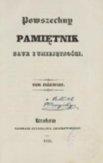 Powszechny Pamiętnik Nauk i Umiejętności. T. 1 (1835)