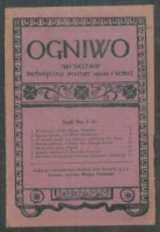 Ogniwo. R. 3, nr 1/2 (1922)