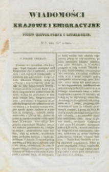Wiadomości Krajowe i Emigracyjne. No 2 (1837)