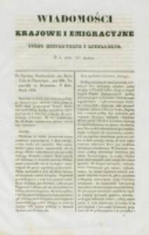 Wiadomości Krajowe i Emigracyjne. No 4 (1837)