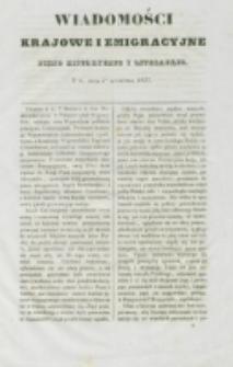 Wiadomości Krajowe i Emigracyjne. No 6 (1837)
