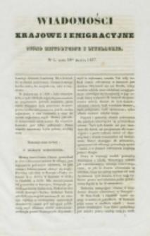 Wiadomości Krajowe i Emigracyjne. No 5 (1837)