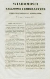 Wiadomości Krajowe i Emigracyjne. No 7 (1837)