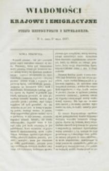 Wiadomości Krajowe i Emigracyjne. No 8 (1837)