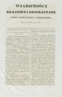 Wiadomości Krajowe i Emigracyjne. No 10 (1837)