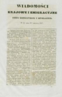 Wiadomości Krajowe i Emigracyjne. No 12 (1837)