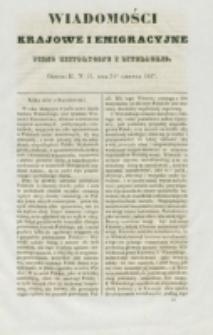 Wiadomości Krajowe i Emigracyjne. No 13 (1837)