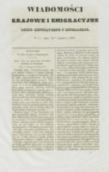 Wiadomości Krajowe i Emigracyjne. No 14 (1837)