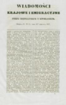 Wiadomości Krajowe i Emigracyjne. No 15 (1837)