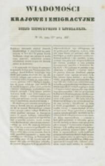 Wiadomości Krajowe i Emigracyjne. No 16 (1837)