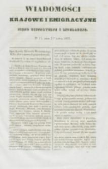 Wiadomości Krajowe i Emigracyjne. No 17 (1837)