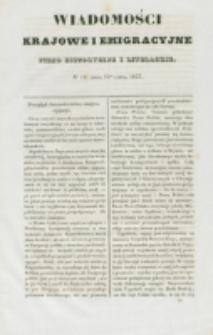 Wiadomości Krajowe i Emigracyjne. No 18 (1837)