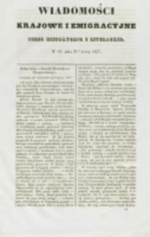 Wiadomości Krajowe i Emigracyjne. No 19 (1837)