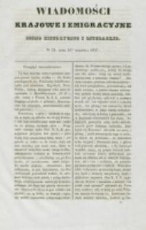 Wiadomości Krajowe i Emigracyjne. No 21 (1837)