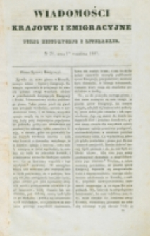 Wiadomości Krajowe i Emigracyjne. No 24 (1837)