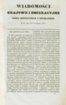 Wiadomości Krajowe i Emigracyjne. No 26 (1837)