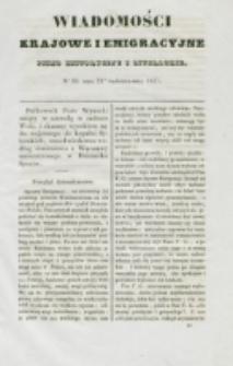 Wiadomości Krajowe i Emigracyjne. No 30 (1837)