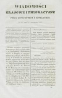 Wiadomości Krajowe i Emigracyjne. No 33 (1837)