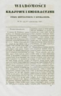 Wiadomości Krajowe i Emigracyjne. No 28 (1837)