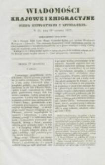 Wiadomości Krajowe i Emigracyjne. No 35 (1837)