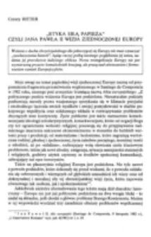 """""""Etyka siłą Papieża"""" czyli Jana Pawła II wizja zjednoczonej Europy."""