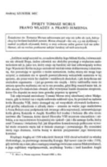 Święty Tomasz Morus : prawo władzy a prawo sumienia.